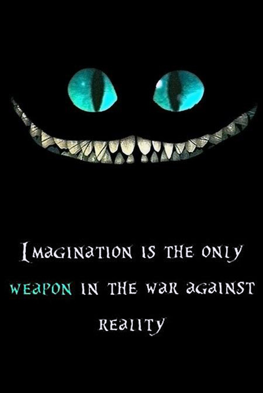 Alice In Wonderland Quotes Imagine Cheshire Cat Wallpaper