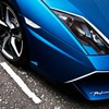 Lamborghini gallardo blue cars italian HD wallpaper