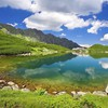 Paradise in the mountains HD wallpaper