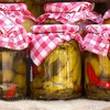 Vegetables in jars HD wallpaper