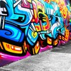 Abstract cityscapes graffiti HD wallpaper