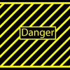 Black yellow danger simple dangerous HD wallpaper