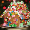 Holiday gingerbread house HD wallpaper