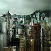 Cityscapes rain water drops HD wallpaper