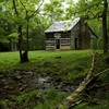 National park tennessee cabin cove mountains HD wallpaper