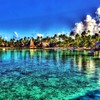 Hotel beach at tahiti HD wallpaper