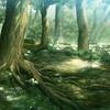 Artwork forests leaves nature scenic HD wallpaper