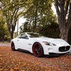 Cars maserati granturismo autumn HD wallpaper