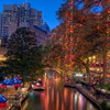 River walk in san antonio at dusk hdr HD wallpaper