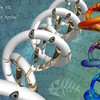 Digital art 3d double helix HD wallpaper
