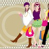 Girls fashion cartoon HD wallpaper