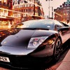 Cityscapes cars lamborghini vehicles black HD wallpaper