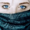 Blondes blue eyes faces masks HD wallpaper