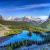 Berge Landschaften Natur Seen  HD wallpaper