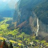 Magnificent valley in switzerland HD wallpaper