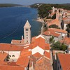 Town church croatia mediterranean sea rab adriatic HD wallpaper