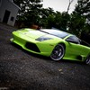 Italian lamborghini murcielago cars green HD wallpaper