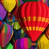 Hot air balloons multicolor vectors HD wallpaper