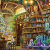 Potion plates arches shelves jars interior spaces HD wallpaper