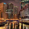 City at night hdr HD wallpaper