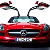 Mercedesbenz sls amg ecell cars red HD wallpaper