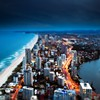 Tilt-shift cities sea HD wallpaper