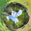 Earth green hole nature HD wallpaper