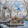Landscapes snow trees surrealism artwork adam friedman HD wallpaper