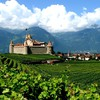 Swiss aigle castles green nature HD wallpaper