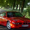 Bmw 8 series cars red trees HD wallpaper