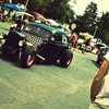 Classic hot rod cars crowd retro HD wallpaper