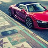 Autos Cabrio Audi R8 v10  HD wallpaper