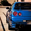 Nissan skyline r34 racing club blue cars HD wallpaper