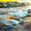Water rocks streams sunlight HD wallpaper