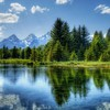 Kleiner Waldsee  HD wallpaper