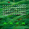 Grass space invaders retro games HD wallpaper
