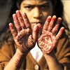 Hands henna children HD wallpaper