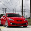 Red cars hyundai genesis coupe HD wallpaper