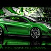 Green cars alfa romeo tuning 3d HD wallpaper