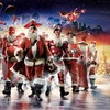Funny christmas parody santa claus digital art HD wallpaper