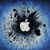 Blue apple inc. grunge logos graphic design HD wallpaper