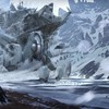 Mountains snow futuristic fantasy art artwork HD wallpaper