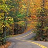 Autumn colors roads HD wallpaper