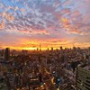 Sunset japan clouds landscapes tokyo cityscapes golden HD wallpaper