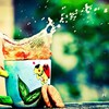 Colors splashes tea HD wallpaper