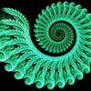 Abstract green spiral HD wallpaper