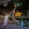 Nba lebron james dunk basketball player HD wallpaper
