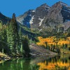 Colorado maroon bells autumn forests go HD wallpaper