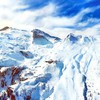 Mountains nature snow skies HD wallpaper