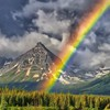 Mountains nature rainbows HD wallpaper